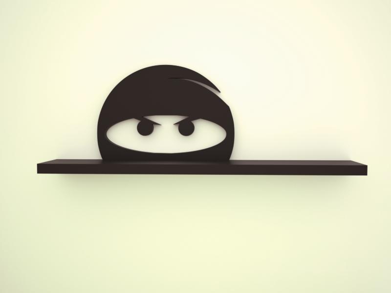 Polica pre deti Ninja; drievko;drevotovary;polica