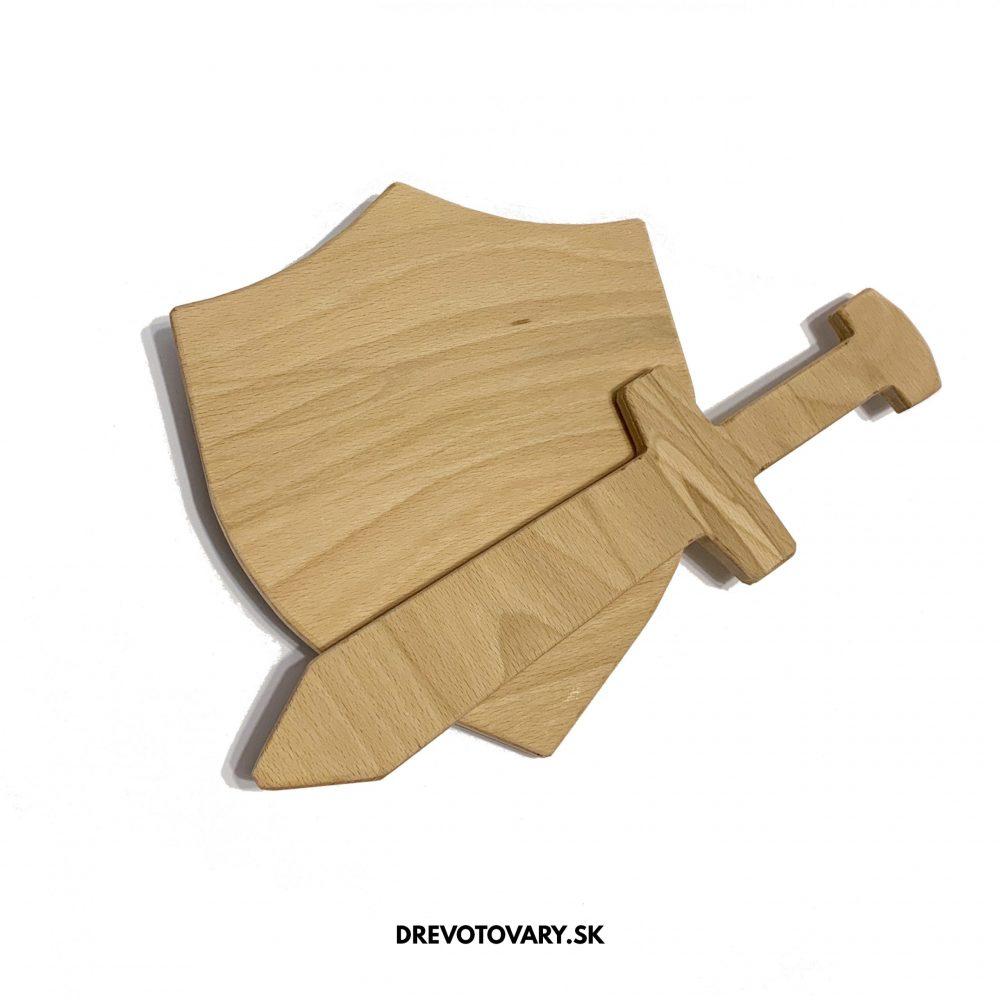 dreveny mec dreveny stit drevotovary drevene hracky